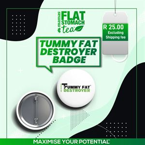 Tummy Fat Destroyer Badge